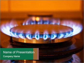 Gas burner PowerPoint Template
