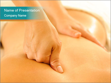 Beautiful woman in a spa PowerPoint Templates