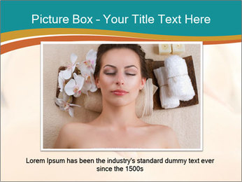 Beautiful woman in a spa PowerPoint Templates - Slide 15