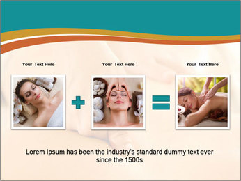 Beautiful woman in a spa PowerPoint Templates - Slide 22