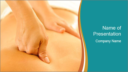 Beautiful woman in a spa PowerPoint Template