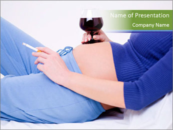 Pregnant woman PowerPoint Template