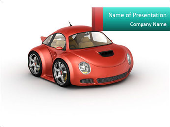 Red sport car PowerPoint Template - Slide 1