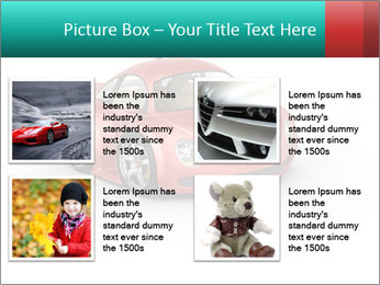 Red sport car PowerPoint Template - Slide 14