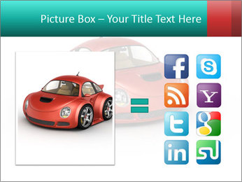Red sport car PowerPoint Template - Slide 21