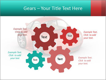 Red sport car PowerPoint Template - Slide 47