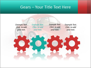Red sport car PowerPoint Template - Slide 48