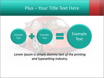 Red sport car PowerPoint Template - Slide 75