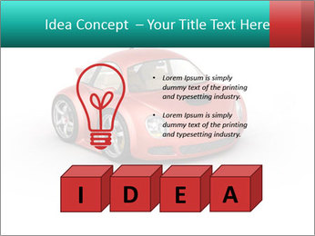 Red sport car PowerPoint Template - Slide 80