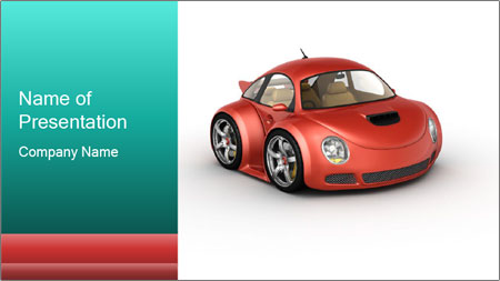 Red sport car PowerPoint Template