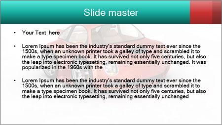 Red sport car PowerPoint Template - Slide 2