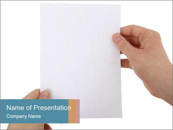 Blank Paper Sheet Modèles des présentations  PowerPoint