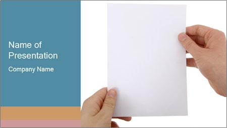 Blank Paper Sheet PowerPoint Template