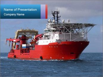 Marine Boat PowerPoint Template - Slide 1