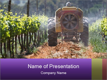 Tractor PowerPoint Template - Slide 1