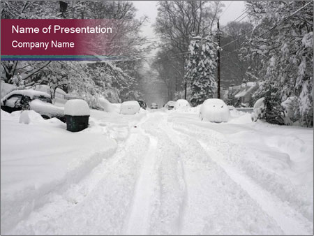 Blizzard in Washington PowerPoint Template