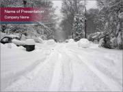 Blizzard in Washington PowerPoint Templates