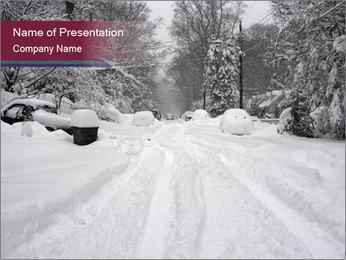 Blizzard in Washington PowerPoint Template - Slide 1