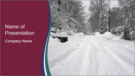 Blizzard in Washington PowerPoint Template