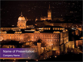 Budapest castle PowerPoint Template - Slide 1