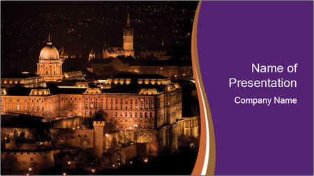 Budapest castle PowerPoint Template
