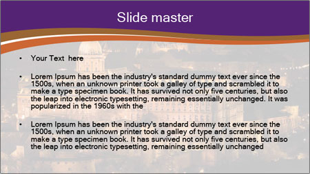 Budapest castle PowerPoint Template - Slide 2