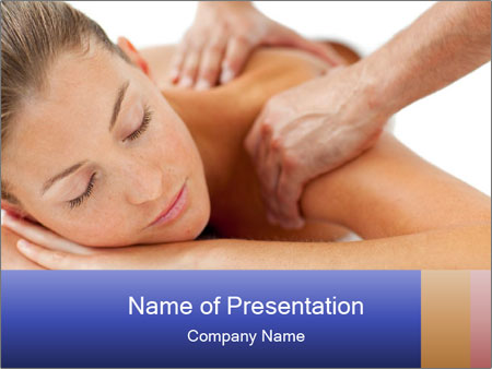 Woman in a spa center PowerPoint Template
