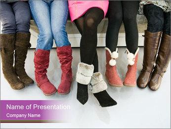 Girls boots PowerPoint Template - Slide 1