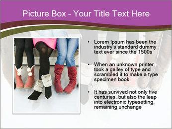 Girls boots PowerPoint Template - Slide 13
