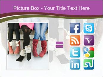 Girls boots PowerPoint Template - Slide 21