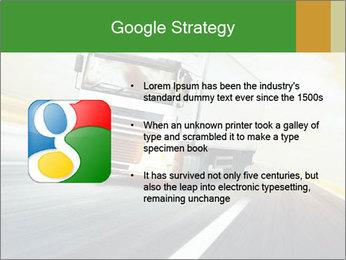 White truck PowerPoint Template - Slide 10