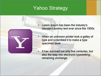White truck PowerPoint Template - Slide 11