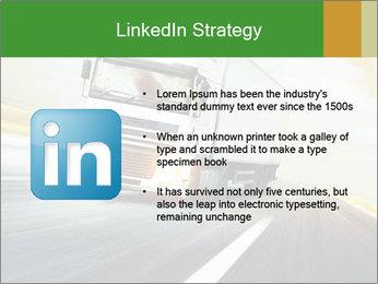White truck PowerPoint Template - Slide 12