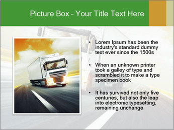 White truck PowerPoint Template - Slide 13