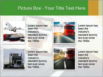 White truck PowerPoint Template - Slide 14