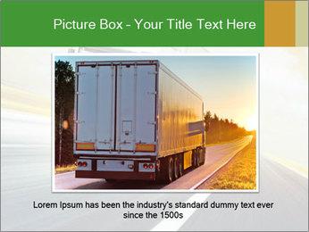 White truck PowerPoint Template - Slide 15