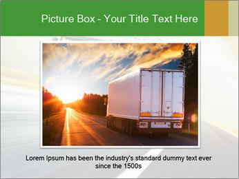 White truck PowerPoint Template - Slide 16