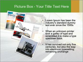 White truck PowerPoint Template - Slide 17