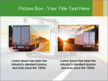 White truck PowerPoint Template - Slide 18
