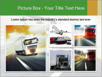 White truck PowerPoint Template - Slide 19