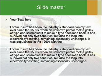 White truck PowerPoint Template - Slide 2