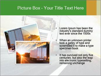 White truck PowerPoint Template - Slide 20
