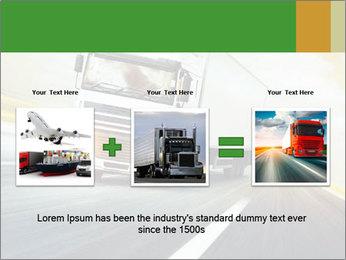White truck PowerPoint Template - Slide 22
