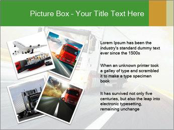 White truck PowerPoint Template - Slide 23