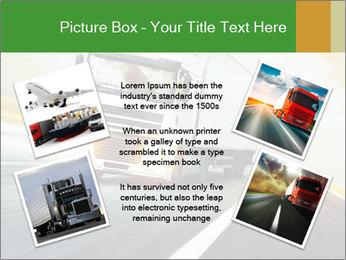 White truck PowerPoint Template - Slide 24