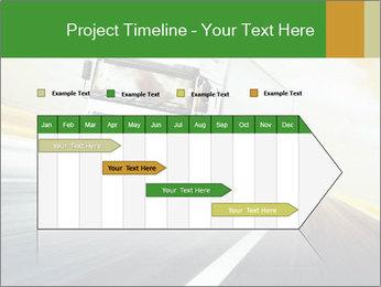 White truck PowerPoint Template - Slide 25