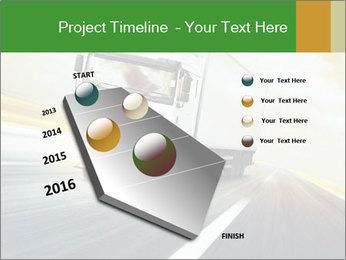 White truck PowerPoint Template - Slide 26