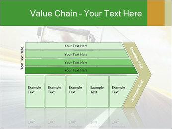 White truck PowerPoint Template - Slide 27