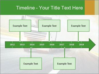 White truck PowerPoint Template - Slide 28