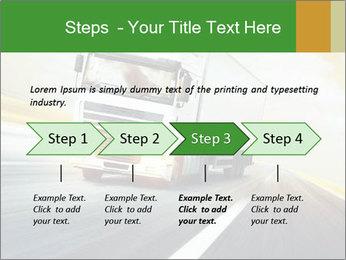 White truck PowerPoint Template - Slide 4
